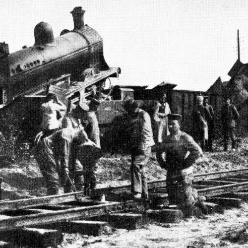 Train renversé par des patriotes le 20 août 1914 près de Bruxelles
